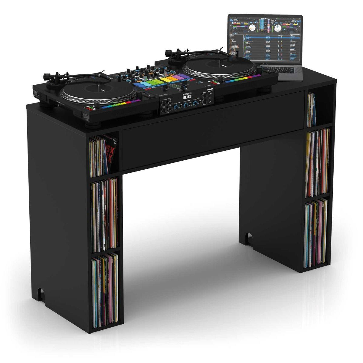 113776  4043034167857 Glorious Modular Mix Station - Sort Premium DJ-benk