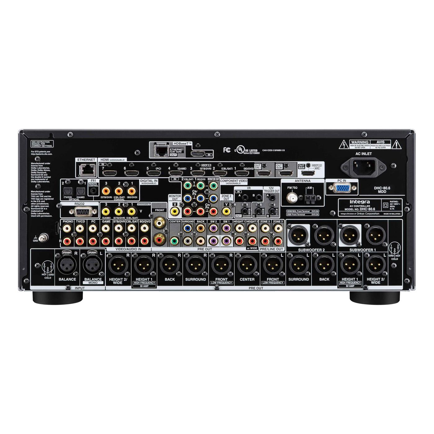 254453   Integra DHC 80.6 11.2 PROCESSOR/PREAMP 11.2 THX U2P / BAL.UT / HDBaseT / 4k60hz