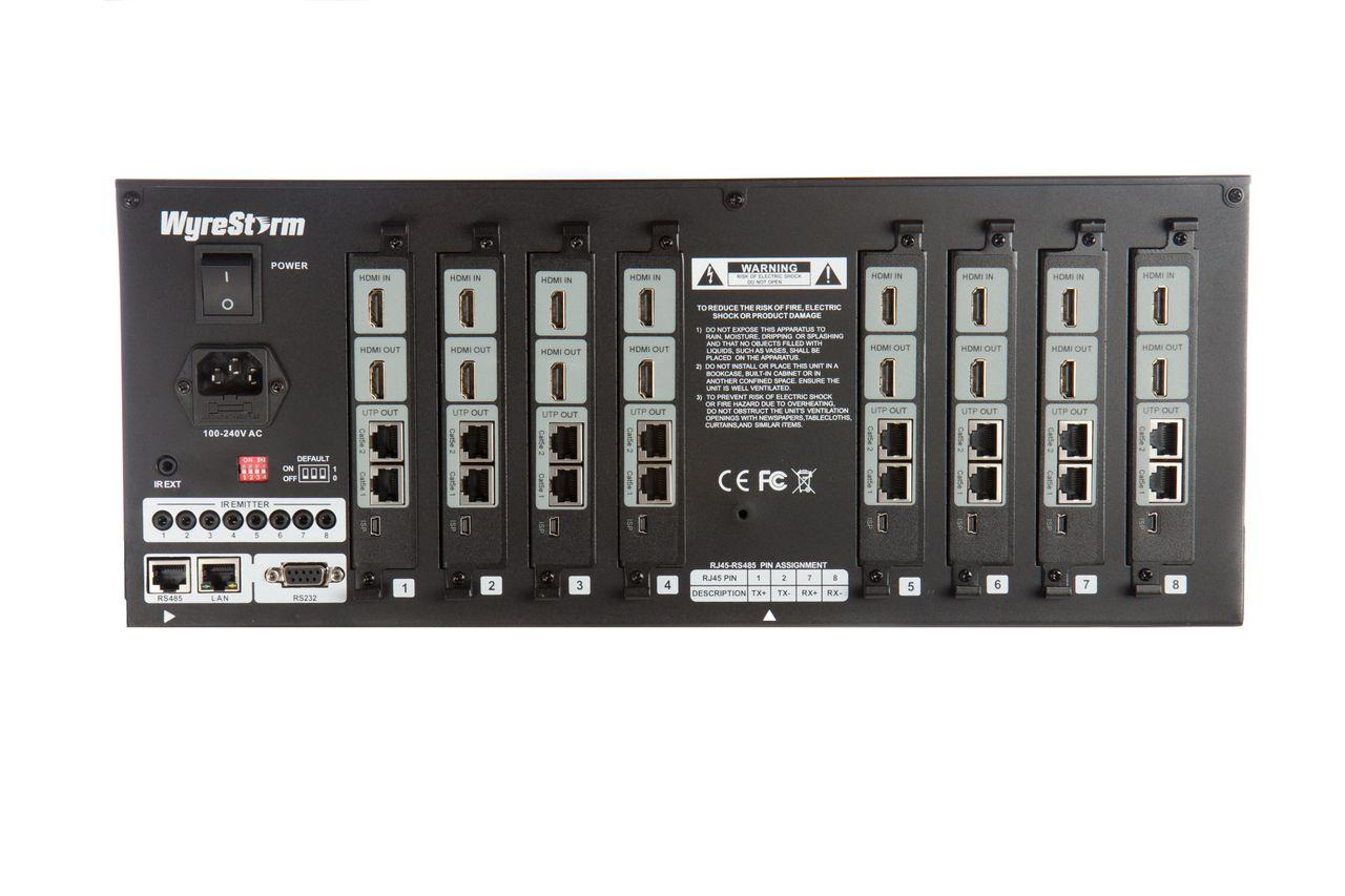 104146   Wyrestorm 8x8 HDBaseT Matrix MX-0808-HDBT