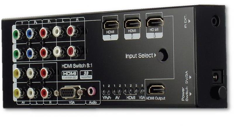 104182   Wyrestorm Multi Switcher, 8 inn og 1 ut SW-0801