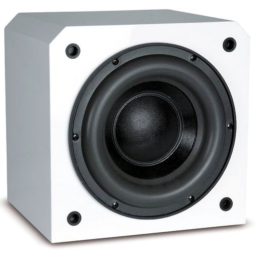 "6900008  HRS8230W Sunfire HRS 8 SINGLE 8"" WHITE LACQUER 1000W TDC POWERED SUBWOOFER"
