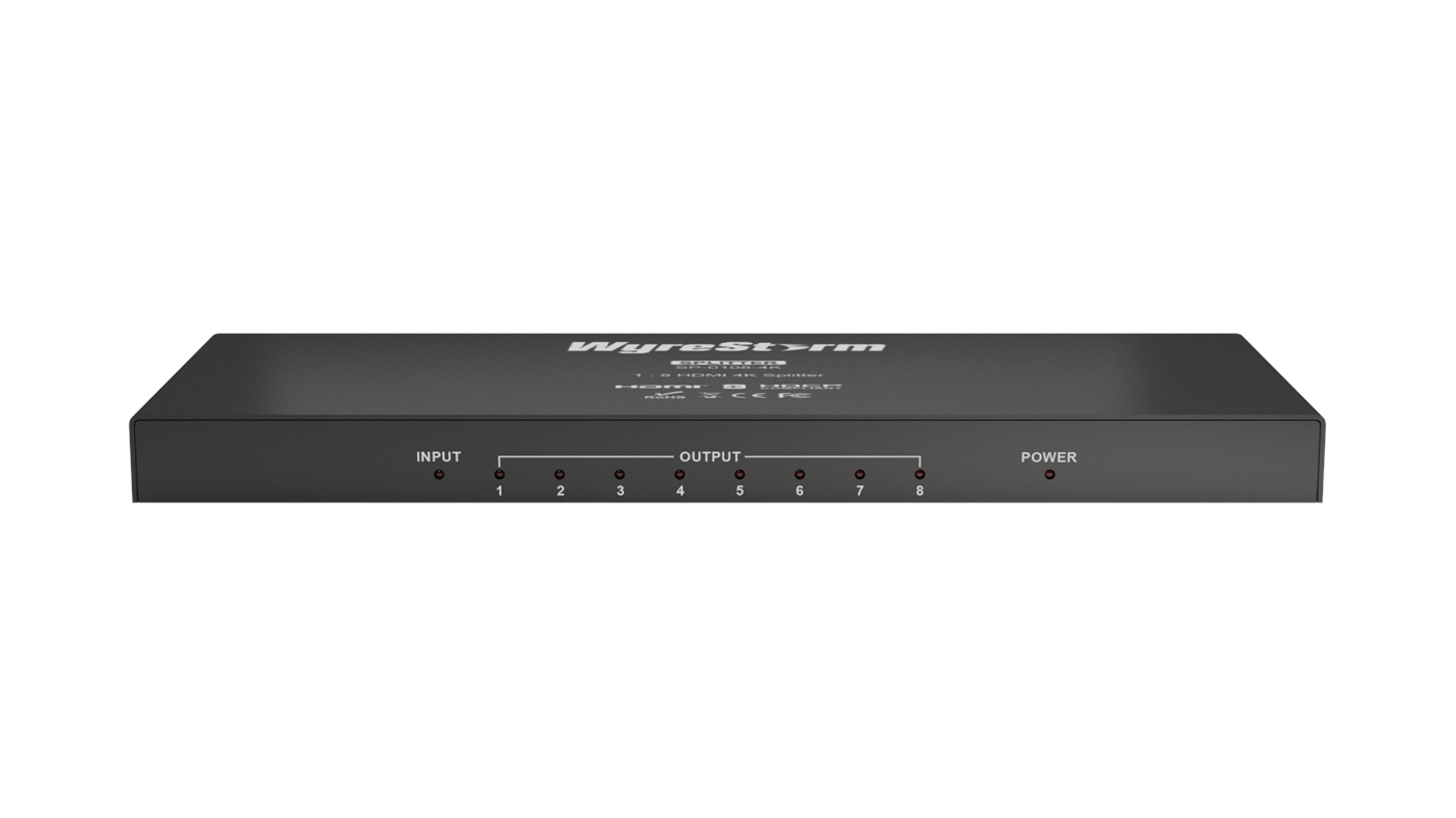 107076  SP-0108-4K Wyrestorm1x8 HDMI 1080p/4K Splitter EDID management