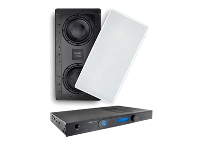 "6900010  HRSIW8CAB Speakercraft HRS IW8 In-Wall SUBWOOFER DUAL ACTIVE 8"" 23.5""HX10.5"" WIDE"